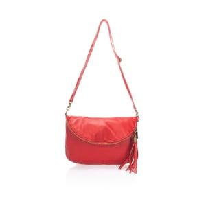 Červená kožená kabelka Lisa Minardi Vetro