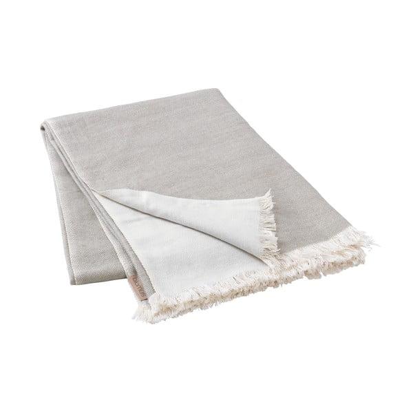 Šedohnědý pletený pléd Blomus, 130x180cm