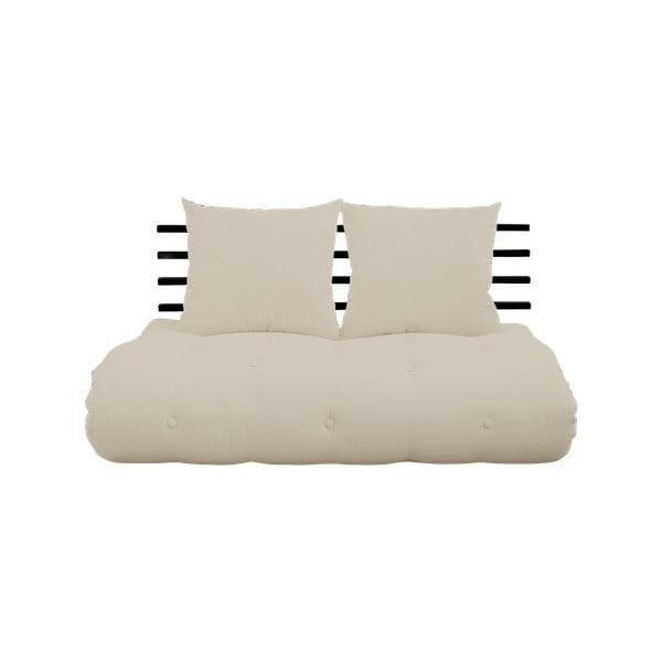 Shin Sano Black/Beige kinyitható kanapé - Karup Design