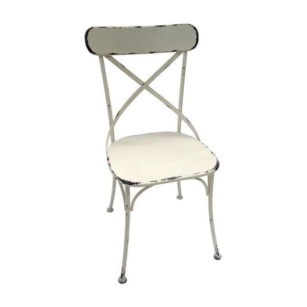 Bílá kovová židle InArt Antique