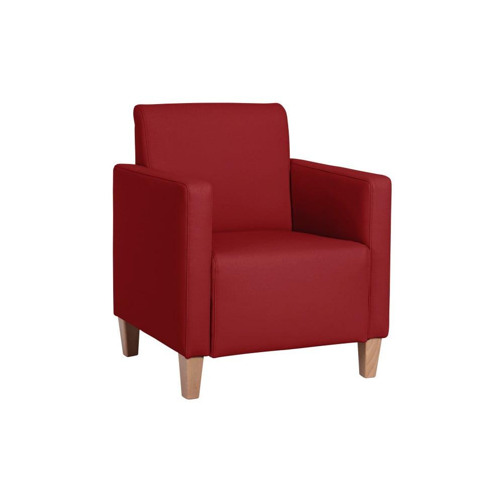 Červené křeslo Max Winzer Milla Leather Chili