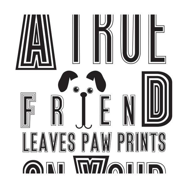 Plakát Karin Åkesson Design Dog Friend, 30x40 cm