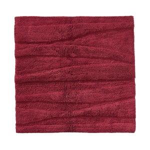 Vínově červená koupelnová předložka Zone Flow, 65x65cm