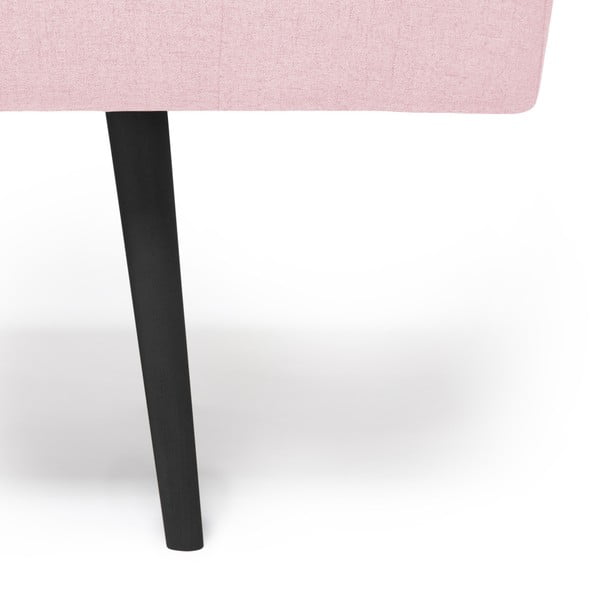 Pudrově růžová lenoška s černými nohami Vivonita Ella