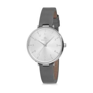 Dámské hodinky se šedým koženým řemínkem Bigotti Milano Livia