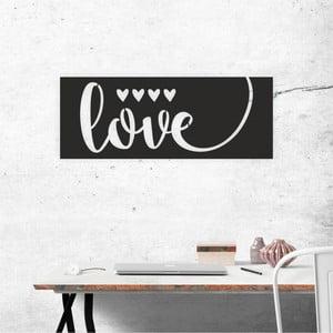 Černá nástěnná samolepicí dekorace North Carolina Scandinavian Home Decors Love V1, 65 x 25 cm