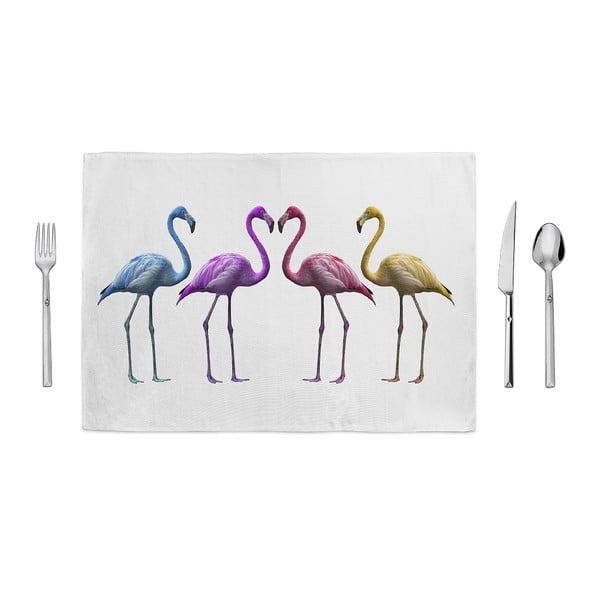 Prostírání Home de Bleu Colored Flamingos, 35x49cm