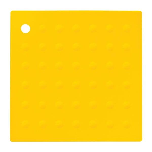 Žlutá silikonová podložka pod hrnce Premier Housewares Zing