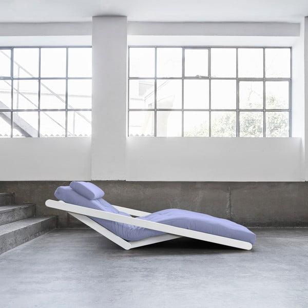 Dvoumístná variabilní lenoška Karup Figo White/Blue Breeze