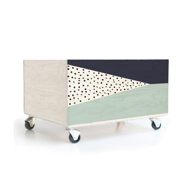 Pojízdný úložný box Geometric 2