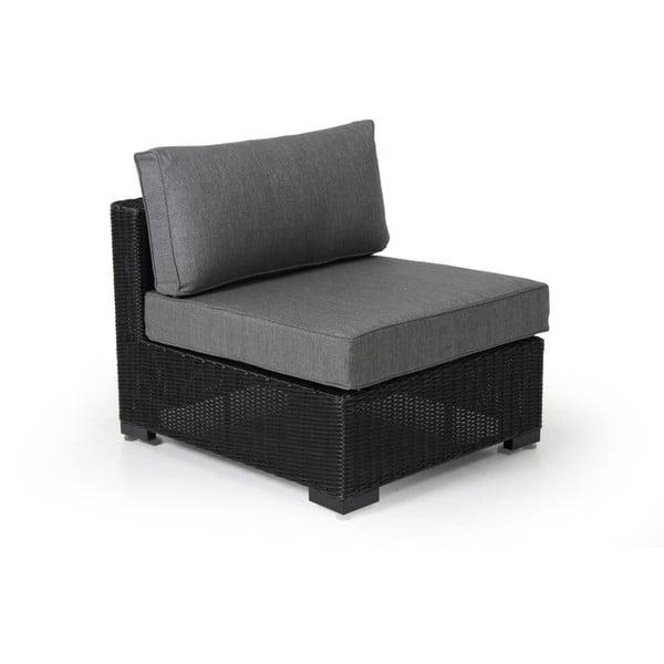 Střední díl černé zahradní sedačky Brafab Ninja