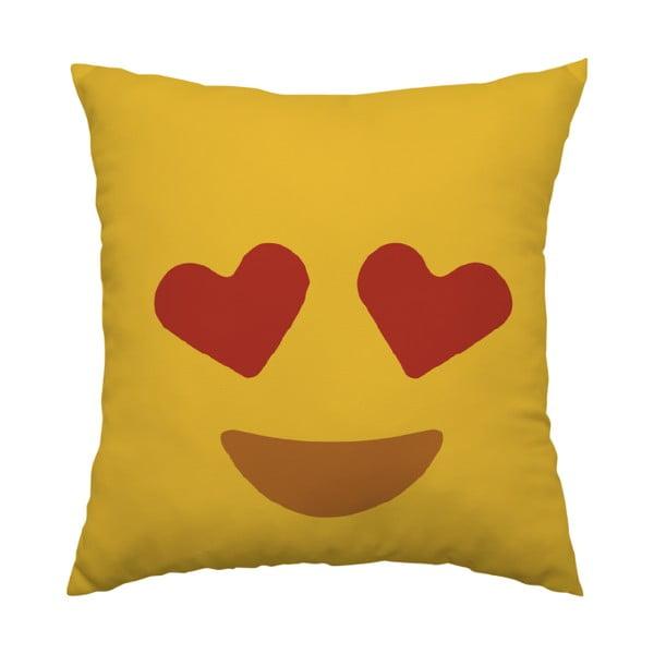 Polštář Emoji Hearts, 40x40 cm