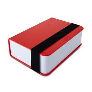 Červený svačinový box Black+Blum Book