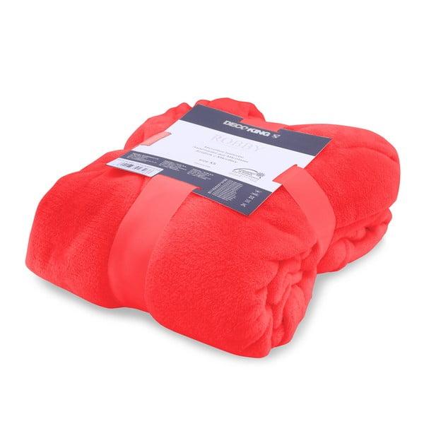 Červený unisex župan z mikrovlákna DecoKing Robby, velikost XS