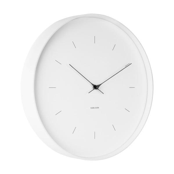 Bílé nástěnné hodiny Karlsson Butterfly, Ø 37,5 cm