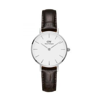 Ceas de damă Daniel Wellington Petite York, ⌀ 28 mm, alb-argintiu imagine