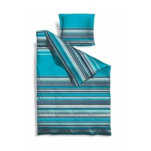 Prodloužené povlečení Turquoise Stripes, 140x220 cm