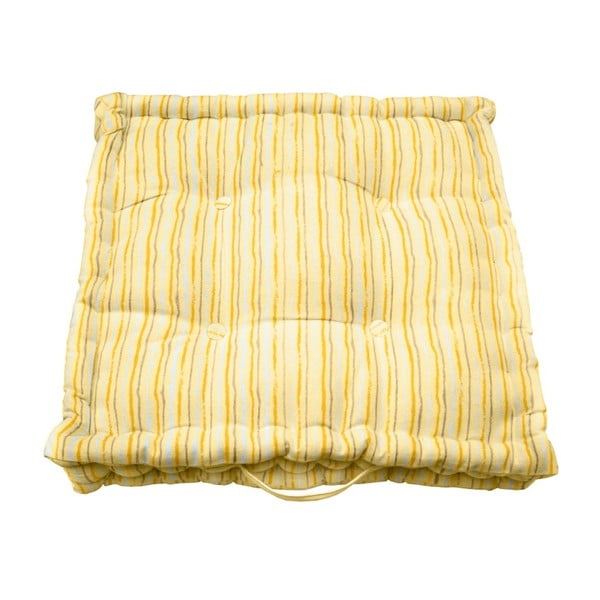 Žlutý zahradní polštář s pruhy Ragged Rose Jess