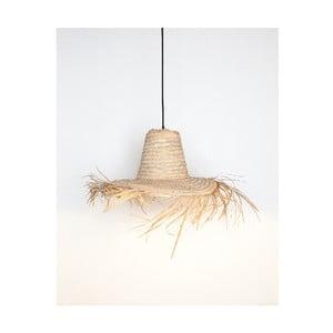 Přírodní svítidlo Surdic Lámpara Amaro ve tvaru klobouku, 60 x 60 cm
