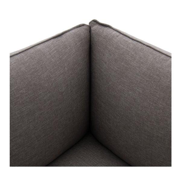 Šedý levý rohový modul pohovky Vivonita Cube