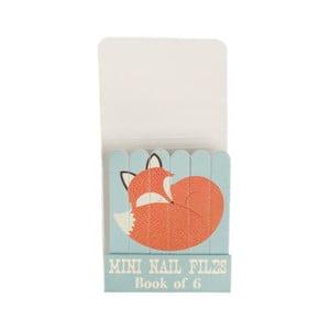 Sada 6 mini pilníčků na nehty Rex London Rusty The Fox