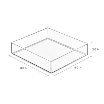 Organizator transparent iDesign Clarity, 20 x 20 cm de la iDesign