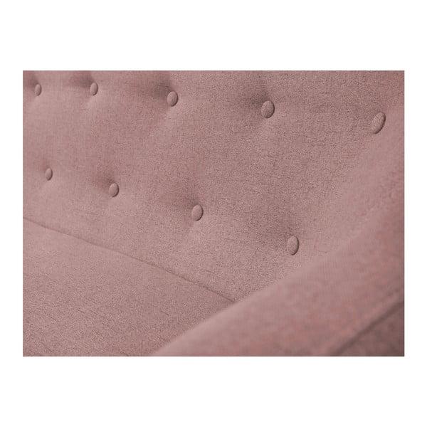 Canapea cu 3 locuri Mazzini Sofas Piemont, roz