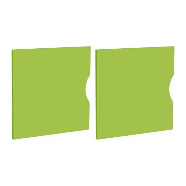 Kiera zöld ajtókészlet polchoz, 2 részes, 33 x 33 cm - Støraa