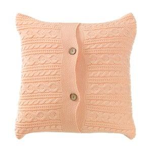Pletený polštář s náplní Peach