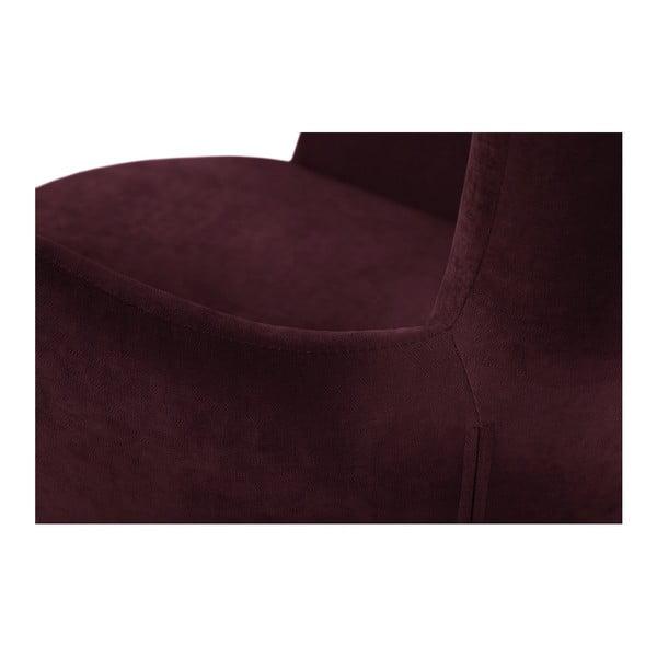Vínově červené otočné křeslo My Pop Design Vostell