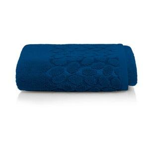 Tmavě modrý bavlněný ručník Maison Carezza Ciampino, 50 x 90 cm