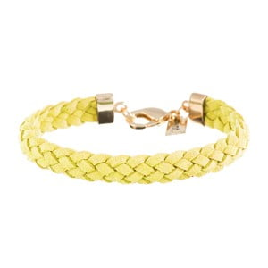 Náramek Strand braided gold, dark yellow