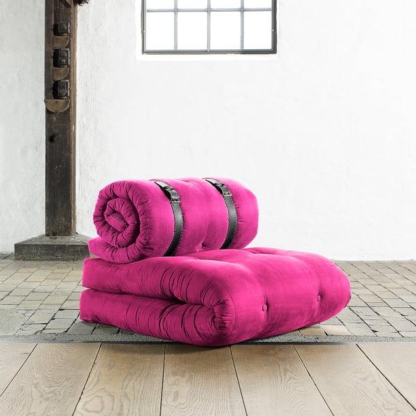 Křeslo/matrace Buckle up, 70 cm, růžová