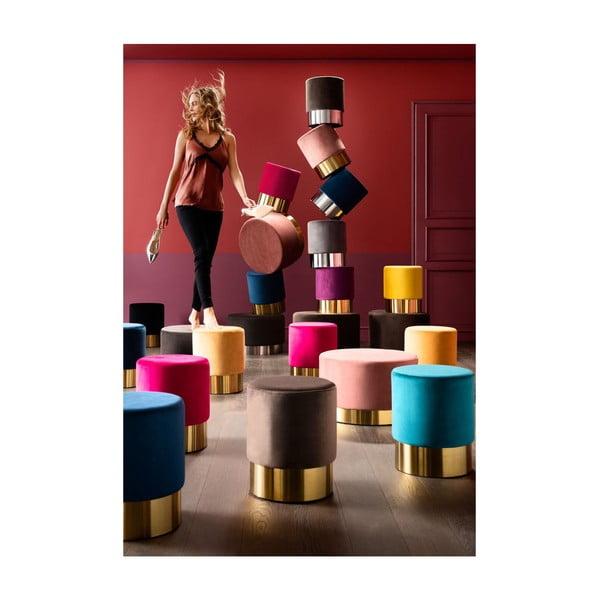 Tyrkysová stolička Kare Design Cherry, ∅35cm