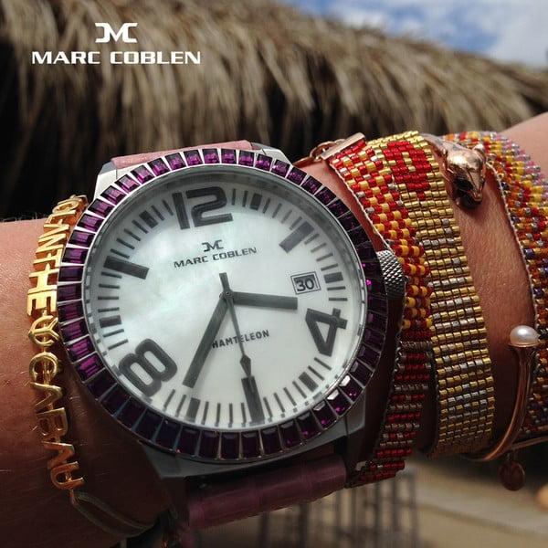 Dámské hodinky Marc Coblen s páskem a kroužkem navíc P36
