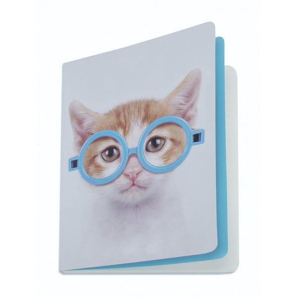 Zápisník Glasses Cat