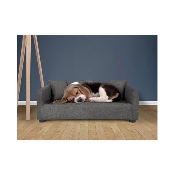 Červená pohovka pro psy se 2 dekorativními polštářky Marendog Princess