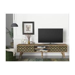 TV komoda v dekoru ořechového dřeva Valente