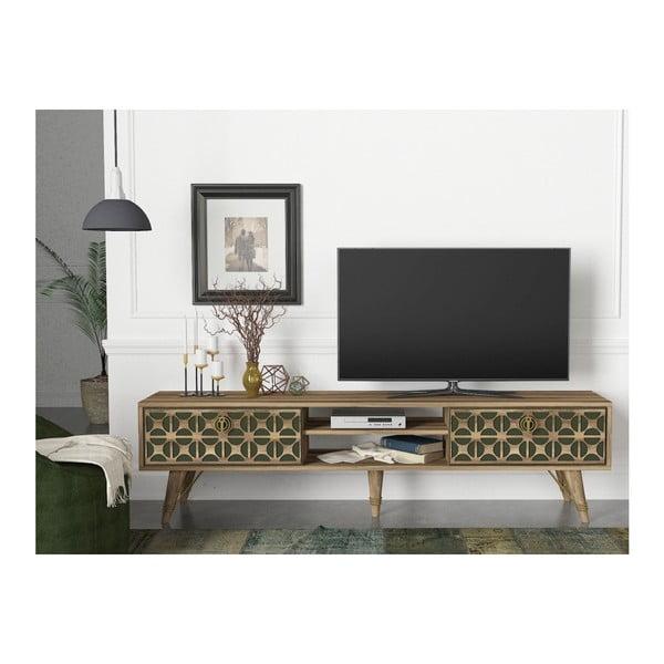 Comodă TV cu aspect de lemn de nuc Valente