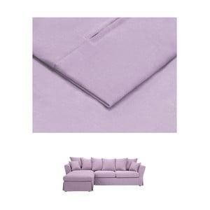 Světle fialový povlak na trojmístnou pohovku THE CLASSIC LIVING Helene, levýroh
