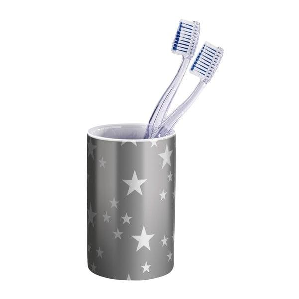 Stella szürke kerámia fogkefetartó pohár - Wenko