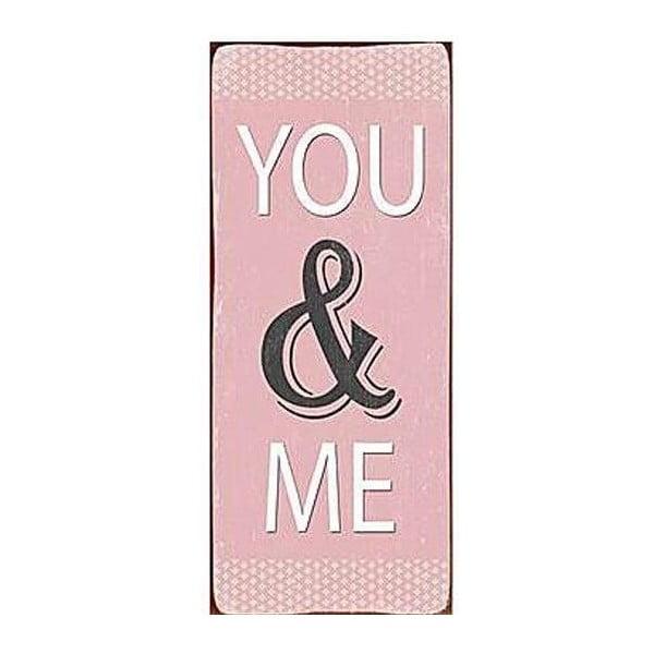Plechová cedule You&Me 30x13 cm