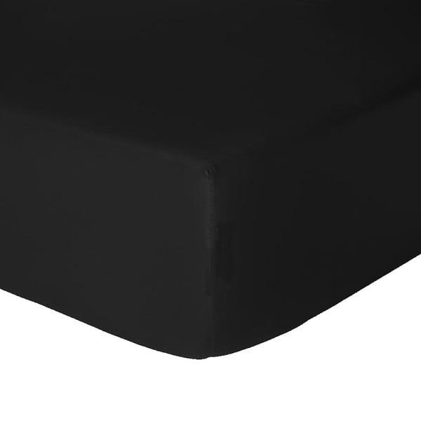 Elastické prostěradlo Let's Home Black 160x200 cm