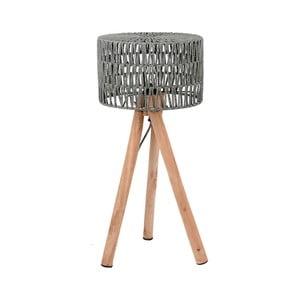 Šedá stolní lampa zmangového dřeva LABEL51 Stripe