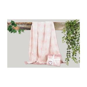 Růžová deka s příměsí bavlny Dolce Bonita Kalp, 155 x 125 cm