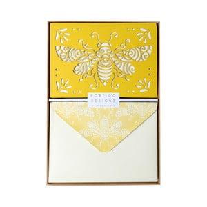 Set 10 felicitări cu plic  Portico Designs FOIL Honeybee