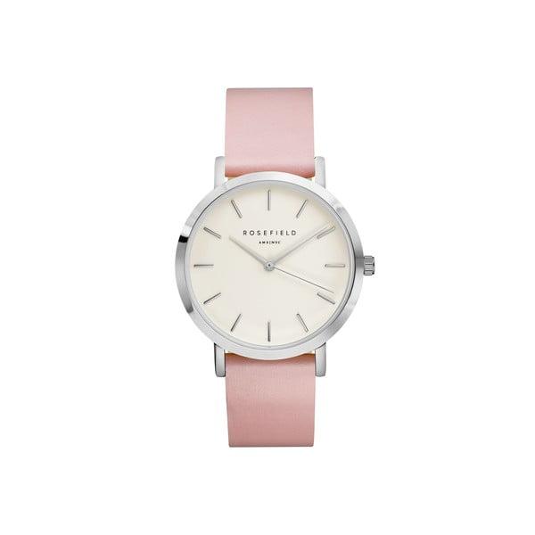 Ceas de damă Rosefield The Gramercy, argintiu/roz