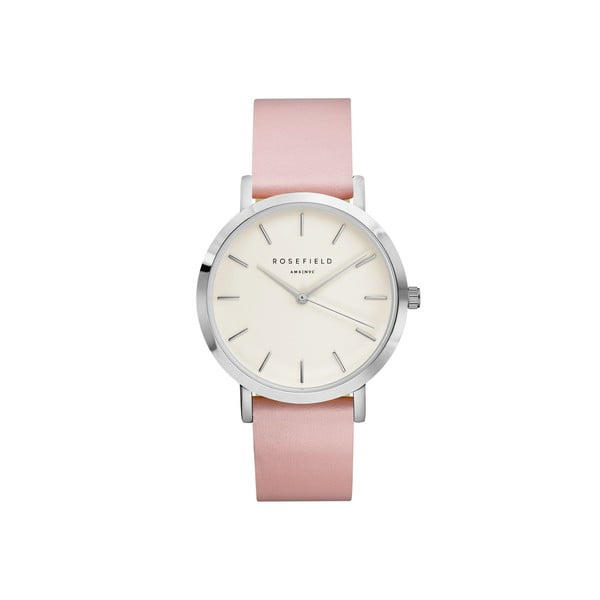 Stříbrnorůžové dámské hodinky Rosefield The Gramercy