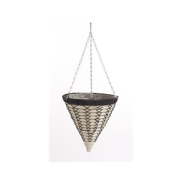 Závěsný ratanový květináč Luxury Cone