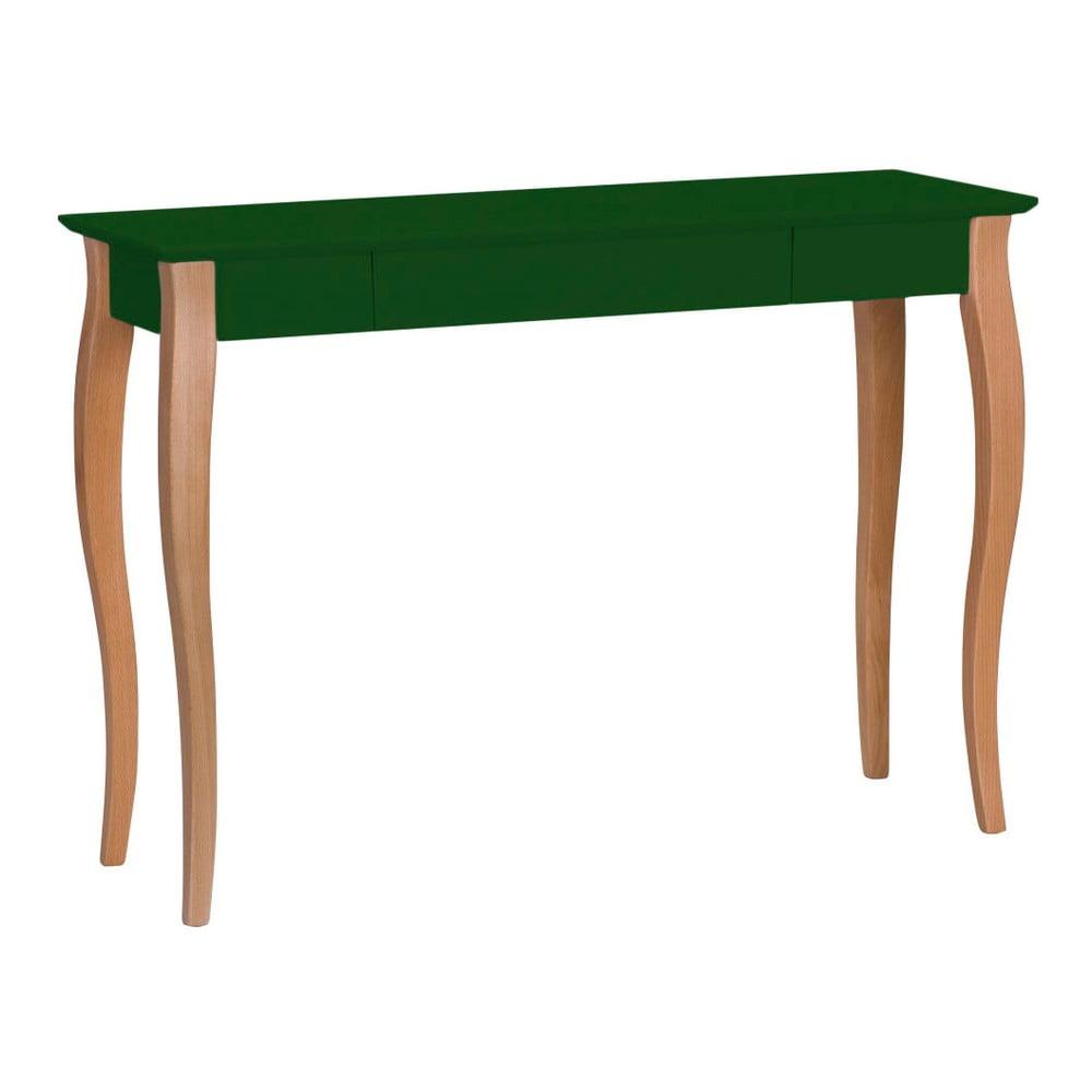 Tmavě zelený psací stůl Ragaba Lillo, šířka 105 cm